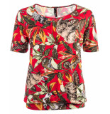Ned Top ally ss red jungle rood
