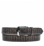 Rehab Belt snake stripes casual riem antraciet