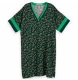 Scotch & Soda Scotch and soda printed dres groen