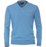 Casamoda Sport trui v-hals pima katoen regular fit blauw