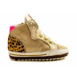 Shoesme Veterschoenen baby proof flex goud
