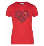 AI&KO Aaiko t-shirt lizzie heart co 180 rood
