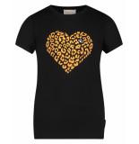 AI&KO Aaiko t-shirt lizzie heart co 180 zwart