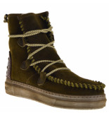 Karma of Charme Boots gevoerd suede groen