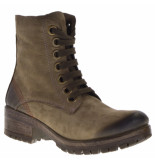 Lazamani Dames veterboots taupe