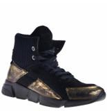Papucei Veterboots goud zwart