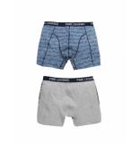 PME Legend Puw195100 960 boxershort cotton elastan grey melee grijs