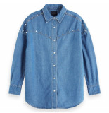 Scotch & Soda oversized denim blauw