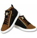 Cash Money Sneaker bee camel black gold hoog