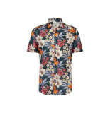 A Fish Named Fred 20.03.061 korte mouw shirt jungle flowers red multi color - rood
