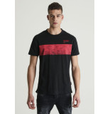Chasin' 5211400091 jeremy print t shirt black e90 zwart