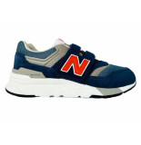 New Balance Sneakers 997 klittenband kids blauw