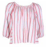 Forte_Forte Top 7076 -wit rood