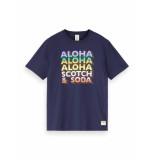Scotch & Soda T-shirt 155408 0002 155408 0002 gradient artwork tee -