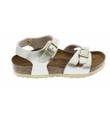 Birkenstock Rio electric metallic gold narrow bf goud