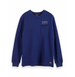 Scotch & Soda Crewneck sweat with contrast loops navy