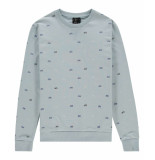 Kultivate Sweat cruiser sky blue blauw
