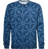 G-Star Gradient indigo r sw l\s blue printed