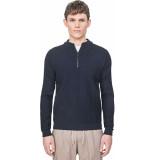 Antony Morato Pull with zipper turlte collar blue stripes 7073 blauw
