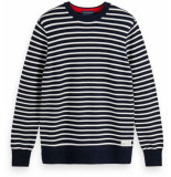 Scotch & Soda Cotton crewneck pull blauw
