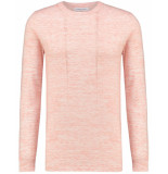 Pure White Fine knit pull coral rood
