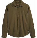 Levi's Ls battery shirt slim olive groen