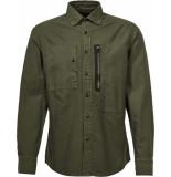 G-Star Powel slim shirt l\s groen