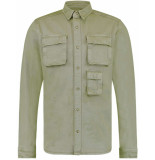 Pure White Overshirt army green groen