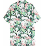 Levi's Cubano shirt flamingo leaf print