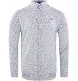 Gabbiano Shirt white&cobalt wit