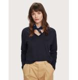 Maison Scotch Cotton cashmere loose knit