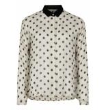 Numph Nunanon blouse pristine white & black