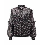 Aaiko Tokio blouse black & flower printed