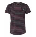 No Excess T-shirt s/sl, r-neck, yd stripe jac night