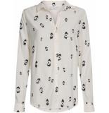 Fabienne Chapot Lily embro blouse off white & berry blue