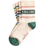 King Louie 2 pack socks logo cream