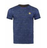 Gabbiano T-shirt navy printed blauw