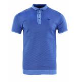 Gabbiano Polo blue knit blauw