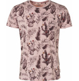 Noize T-shirt, s/s, r-neck, allover print soft pink