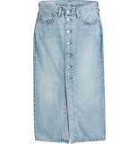 Levi's Button front mid skirt blue cell