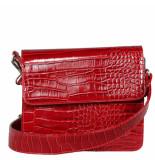 HVISK Caymen shiny strap bag rood