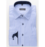 Eterna Heren overhemd twill modern kent borstzak comfort fit gestreept