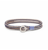 Pig & Hen P29-163202 armband don dino navy - sand silver