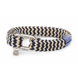 Pig & Hen P09-63203 armband bombay barry navy-sand silver