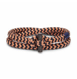 Pig & Hen P06-ss20-247632 armband tiny ted old pink - navy black