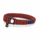 Pig & Hen P07-ss20-242632 armband sharp simon coral red - navy black