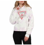 Guess Hood icon fleece paars
