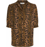Fabienne Chapot Emma noa blouse toffee brown & black
