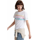 Superdry Pl rainbow entry tee wit