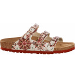 Birkenstock Florida boho flowers earth red narrow rood